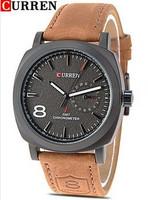 2014 Time-limited Hardlex Analog New Watch Curren 8139 Men Stainless Steel Quartz Strap Watches Fashion Wristwatch Male Clock