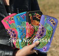 The new national air original hand embroidered peacock purse bag handbag bag wholesale ethnic