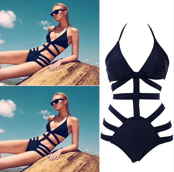 Marke Victoria badehosen für frauen, hohe taille badeanzug bikinis, sexy monokini badeanzug, frauen Verband bademode badeanzug schwarz