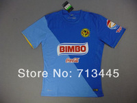Mexico Club 2014 Club America 3RD Blue Away Jersey 14-15.Embroidery logo,Player T-bar