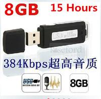 Portable Mini 8GB USB Pen Disk Flash Drive Digital Audio Voice Recorder 384Kbps