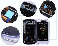 4.5 inches  For Samsung Galaxy SIII S3 i9300 LCD With touch screen Digitizer free shipping+tools white or blue