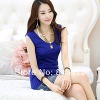2014 spring women one-piece dress plus size sleeveless tank dress basic summer one-piece dress