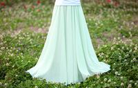 2014 women's spring chiffon fairy skirt bust skirt medium-long skirt bohemia
