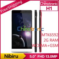 "Original Nibiru H1 Mars H1 Multi-language MTK6592H Octa-core 1.7G Android 4.2 Dual-SIM 5.0""FHD IPS 13.0MP 1080P 2G RAM+16GB ROM"