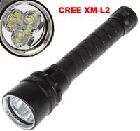 Diving Flashlight 30W 3X CREE XML L2 4000 Lumen LED Torch 100M Underwater Waterproof LED Flash Light