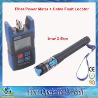 FTTH Tools Kit Fiber Optic Medidor Optico Cable Fault Locator Tester 1mw 3-5km