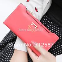 Free Shipping 2014 new arrival leather women wallets woman messenger bag women's design wallet change purse for women