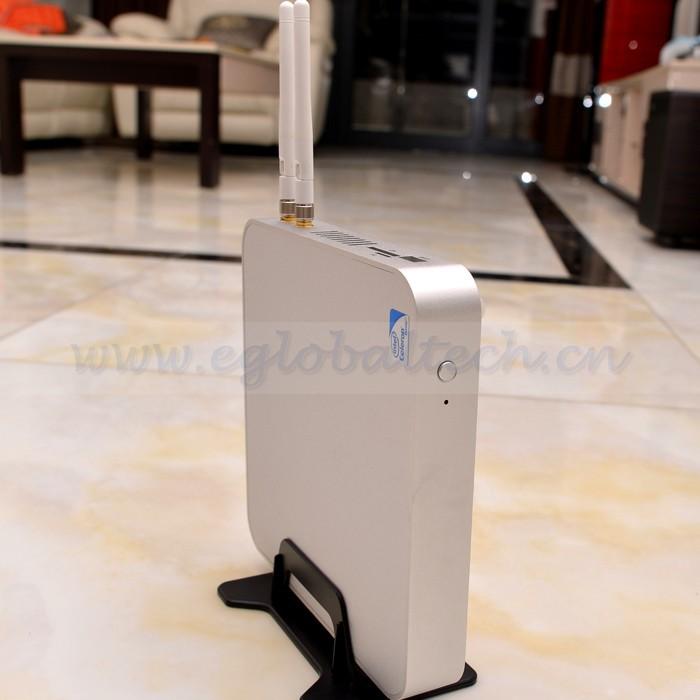 Industrail Fanless Mini PC Desktop 150M Wifi Dual Antenna Fanless System 2 RJ45 Port Educational PC Foxconn PC Terminal Machine(China (Mainland))