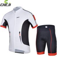 Good Quality  2014 Cheji Cycling Wear short sleeve normal shorts set Milk fiber Quick Dry Bike Wear Ciclismo Jersey CJ-BT-061S