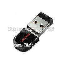Free Shipping 100% Genuine Original Real SanDisk Cruzer Fit CZ33 16GB Mini USB 2.0 Flash Drive High Speed - Black