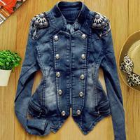 spring 2014 denim jacket coat women cardigan jean jacket plus size woman clothes fashion women 2014 clothes