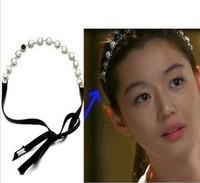 Hot-selling 3pcs/lot DIY Retail Diamond Pearl Hair Band Sliver Headband Free-shipping