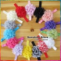 "3.94"" Multilayer Mesh Flowers Kids DIY Accessories Children Girls Elastic Headbands decorations for hair #2F0056 30pcs/lot"