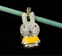 32gb Crystal Yellow Rabbit Design 8gb USB Flash Drives 4GB USB Flash Drive 16GB  Best Gift Free Dropship True Memory Flash