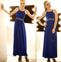 Europe 2014 rhinestone dress evening fashion dress elegant shine full maxi long dress party QX8031