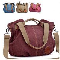 New arrival 2014 Hot selling canvas bag women's handbag shoulder messenger bag color block women's fashion handbag big bag z470