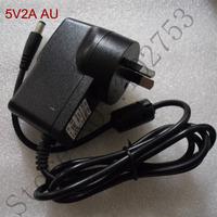 AU post dc power adaptor 5v 2a free shipping 100% new 1pcs high quality 10W wall mount AU charger 100-240V transformer converter