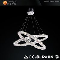 Prompt Shipping 100% Guanrantee Chinese K9 crystals Two Oval-shaped LED Crystal Pendant Ceiling Lamp Luster modern chandelier