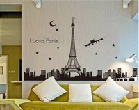 home decor for bedroom living room study room baby room lightingWall stickers  luminous torre eiffel towerwall stickers