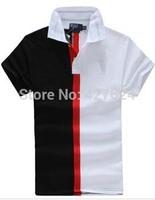 2014 summer new fashion trend of urban men striped polo shirt lapel short-sleeved shirt for men polo fashion shirt brand men top