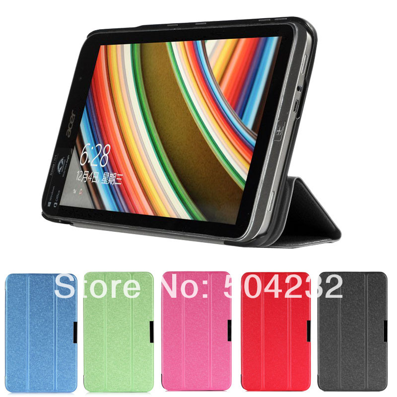 """Slim Folding 3-folders Stand Leather Case Cover Protective Skin For Acer Iconia W4-820 8"""" tablet windows 8.1 tablet(China (Mainland))"""