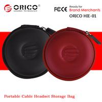 2PCS/Lot ORICO HIE-01 EVA PU Storage Protection Case Bag For Cable Headphones Headset U-Disk Memory Card MP3 iPod
