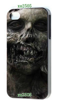 2014 Hot cases! WALKING DEAD design style black hard cases  for iPhone 4  4s 1pc +free shipping