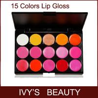 Pro. 15 Color Cosmetic Lip Gloss Lipstick Palette Makeup Set