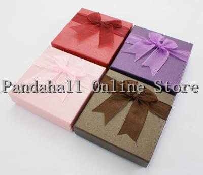Cardboard Bracelet Boxes, Mother's Day Gift Box, Mixed Color, about 9 cm wide, 9 cm long, 2.7 cm high(China (Mainland))