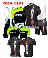 Free shipping!2014 SIDI Cycling Jersey bike Short Sleeve bib Shorts Kits Sportswear Ropa Ciclismo Clothing MTB