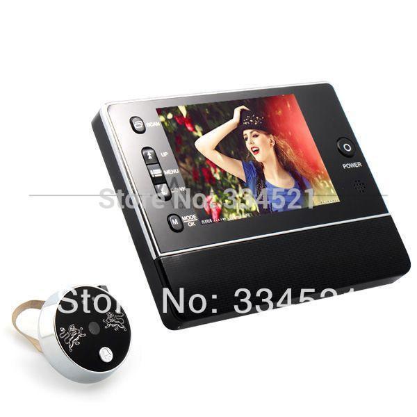 DIY 3.5'' LCD Digital Door Bell Peephole Door Viewer Phone 3*Digital Zoom Security Camera night vision Video Recording(China (Mainland))