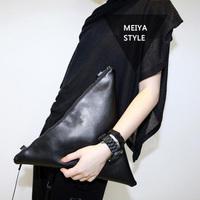 2014 New fashion leather Handbags women clutch bag  shoulder bag women messenger bag triangle package Free shipping