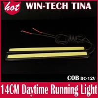 2pcs/LOT Ultra-thin 5W COB Chip 60 LED Car Daytime Light Fog Light Head Lamp, Universal DRL Waterproof Lights Cool White