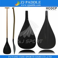 single bent wood shaft carbon fiber outrigger canoe paddle