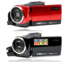 HD 720P 16MP Digital Camera Video mini Camcorders  DV DVR 2.7'' TFT LCD 16x ZOOM RED photo camera