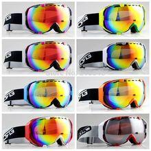 Livraison gratuite CSG / Goggle 7 sortes cadre Double Anti - buée Ski Snowboard lunettes(China (Mainland))