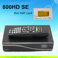 5pcs DM800HD se with A8P Security Card support 300Mbps Wifi 800hd se dm800se DVB-S satellite receiver free shipping
