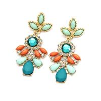 BigBing fashion jewelry fashion crystal dangle earring leaf earring K