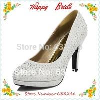 Prom Heels Wedding Shoes Women High Heels Crystal High Heel Shoes Woman Platforms Silver Rhinestone Platform Pumps (more Colors)