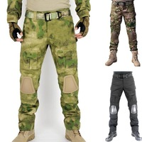 Tactical Airsoft Paintball Combat Hunting Pants with knee pads Soldier Outdoor Fishing Survival Wargame Trouser CP ACU ATAC FG