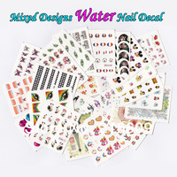 Nail 30Sheets/Lot Mixed Designs Water Transfer Wraps Nail Sticker Decal More Than 500 Designs Free Shiping