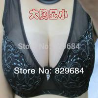 Big underwear bra plus size  large cup female ultra-thin bra full push up big size sports bra large c d e f cup