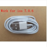 Hot Sale 20pcs/lot 1M 8 Pin Sync Data USB Cable Charging Cord Charger Cable IOS 7 for iPhone 5 5C 5S iPod Touch 5th Nano 7th