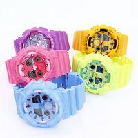 Fashion Candy Color Children Student Multifunctional Waterproof Digital Watch Electronic Sports Luminous Wristwatch