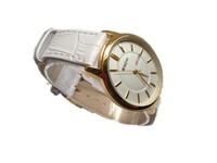free shipping watch bracelet gold rhinestone woman luxury waterproof leather strap watches