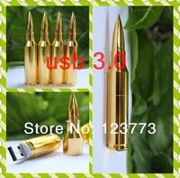 High speed 8GB 16GB 32GB 64GB 128GB usb 3.0 pendrive gold bullet usb flash drive pen drive free shipping -style 6