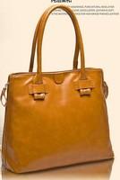 Genuine leather cowhide women's  fashion  large shoulder handbag