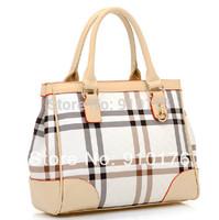 2014 Hot 100% Quality Guarantee Women Plaid Handbags Fashion Portable One Shoulder Bag PU Leather  bags FREE SHIPPING