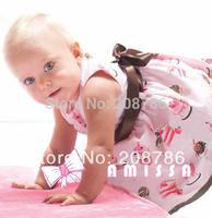 1 pcs/lot,AMISSA powder cake ice cream belt section print girl baby dress , baby's clothing,free shipping,BH-088